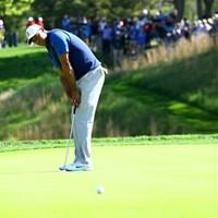 チャンスにつけたパットがことごとく入らない。イライラが募る 2019年 全米プロゴルフ選手権 初日 タイガー・ウッズ