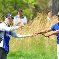 ラカバ氏はウッズの14年ぶりマスターズ制覇を支えた 2019年 全米プロゴルフ選手権 初日 ジョー・ラカバ タイガー・ウッズ