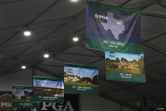 先々の開催コースが写真入りで紹介される中、27年大会は未完成のコースでの開催がすでに決定している