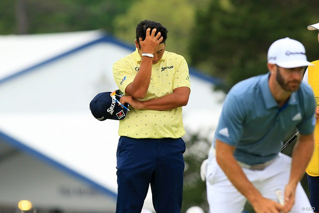 2019年 全米プロゴルフ選手権 最終日 松山英樹 この表情だけで、今日のスコアを察することができる