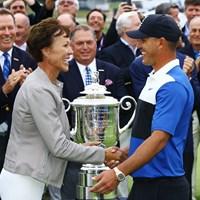 PGAオブアメリカ初の女性会長は、2003年に米PGAツアーに出場経験もあるゴルファーだ 2019年 全米プロゴルフ選手権 最終日 スージー・ウェイリー