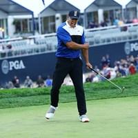 ウィニングパットを決めると、この雄叫び。ケプカが大会2連覇 2019年 全米プロゴルフ選手権 最終日 ブルックス・ケプカ
