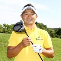 今秋発売の最新ドライバーを手にする片岡大育 2019年 関西オープンゴルフ選手権競技 事前 片岡大育