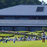 Hole1  par4   セカンドショット 2019年 中京テレビ・ブリヂストンレディスオープン 初日 ささきしょうこ