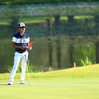 池バックにて 2019年 関西オープンゴルフ選手権競技 2日目 石川航