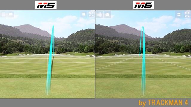 M5 アイアン/ヘッドスピード別試打 M5はフェード気味、M6は持ち球であるドローに