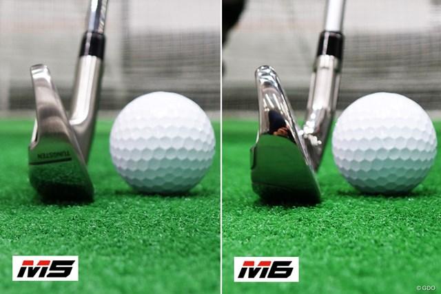M6のほうが丸みを帯びた形状で、ソール幅も若干広い