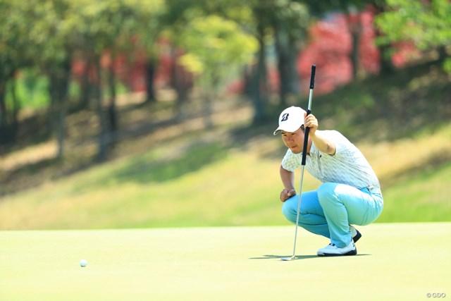 2019年 関西オープンゴルフ選手権競技 3日目 松原大輔 長尺パター片手に