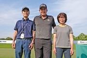 2019年 関西オープンゴルフ選手権競技 最終日 大槻智春(中央)、隆さん(左)、佳江さん(右)