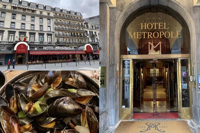 2019年 ベルギーノックアウト 事前 ブリュッセルの景色 ブリュッセルでホテルメトロポールに宿泊しました。左下のムール貝もおいしくて