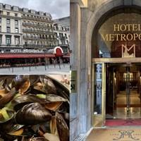 ブリュッセルでホテルメトロポールに宿泊しました。左下のムール貝もおいしくて 2019年 ベルギーノックアウト 事前 ブリュッセルの景色