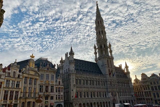 2019年 ベルギーノックアウト 事前 グランプラス ブリュッセルの美しいグランプラス。今週はベルギーが舞台です