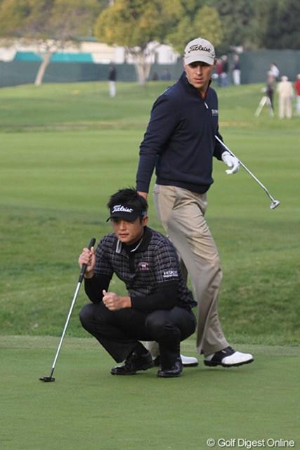 2010年 ノーザントラストオープン初日 今田竜二 先週、最終組で優勝を争ったベン・クレインと同組となった今田竜二