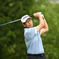 首位に浮上したデビッド・イシイ(写真提供:日本プロゴルフ協会) 2019年 すまいーだカップ シニアゴルフトーナメント 2日目 デビッド・イシイ