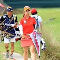 同学年の勝みなみと同組でラウンドした 2019年 全米女子オープン 3日目 天本遥香