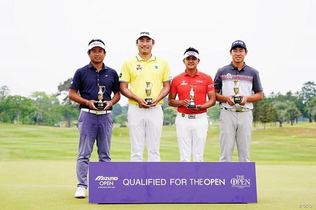 全英出場権を獲得した4人。(左から)池田勇太、チャン・キム、パク・サンヒョン、ガン・チャルングン