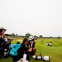 みんなで撮ろう最終ホール 2019年 ~全英への道~ミズノオープン at ザ・ロイヤルGC 最終日 カメラマン