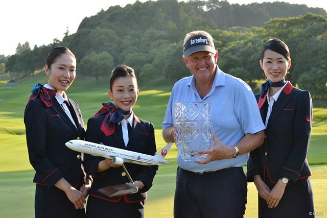 2017年に日本で開催された米シニアツアー「JAL選手権」で優勝したコリン・モンゴメリー