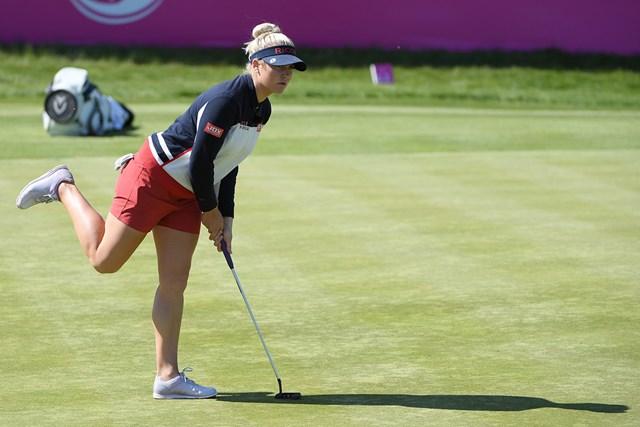 前年大会、イングランドの女子チームとして出場したチャーリー・ハル ※撮影は2018年大会 (Ross Kinnaird/Getty Images)