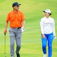 小祝さくらと同組で回った渡辺謙さん 2019年 ヨネックスレディスゴルフトーナメント 事前 渡辺謙さん 小祝さくら
