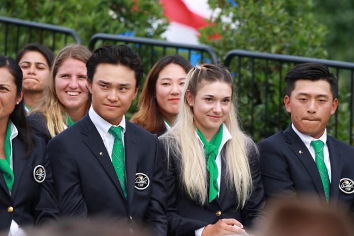 パーマーの後輩として大会に臨む青島賢吾(左) 2019年 アーノルド・パーマーカップ 青島賢吾 事前