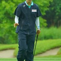 長いバーディパットを決めてもこのスタイル。優勝したら少しは喜んだりするのかなぁ。 2019年 ヨネックスレディスゴルフトーナメント 2日目 キム・ヒョージュ