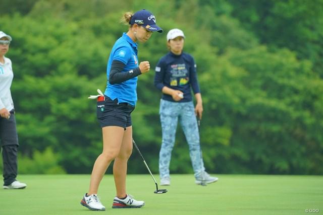 2019年 ヨネックスレディスゴルフトーナメント 2日目 上田桃子 希望通りキム・ヒョージュとの同組を実現させた上田桃子