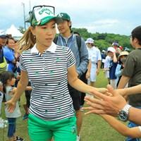 みんな応援ありがとう! 2019年 ヨネックスレディスゴルフトーナメント 最終日 上田桃子