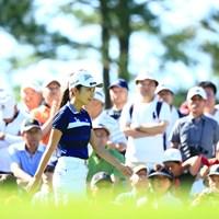 にこやかに登場 2019年 宮里藍サントリーレディスオープンゴルフトーナメント 初日 安田祐香