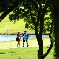 二人の世界なんてね 2019年 宮里藍サントリーレディスオープンゴルフトーナメント 初日 石井理緒