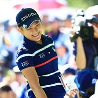 昨年の覇者も藍ちゃんにご挨拶 2019年 宮里藍サントリーレディスオープンゴルフトーナメント 初日 成田美寿々