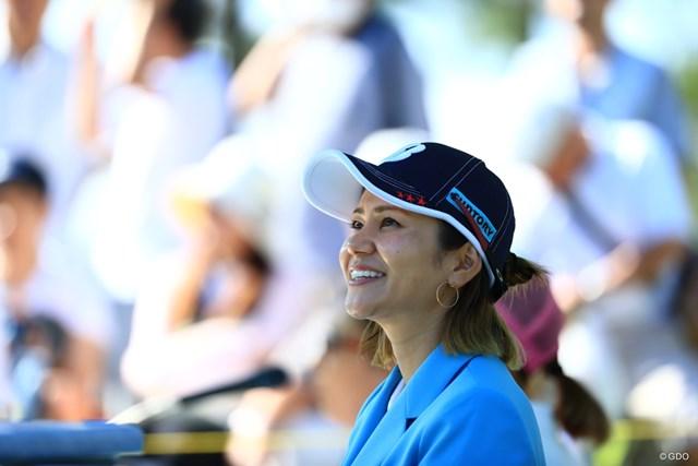 2019年 宮里藍サントリーレディスオープンゴルフトーナメント 初日 宮里藍 アンバサダー藍ちゃん