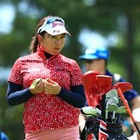 食べてるとこ撮らないでよ~ 2019年 宮里藍サントリーレディスオープンゴルフトーナメント 初日 吉田弓美子