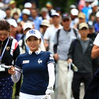 ぎょうさん引き連れてるね 2019年 宮里藍サントリーレディスオープンゴルフトーナメント 3日目 イ・ボミ