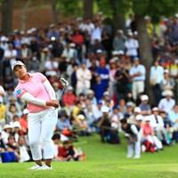 18番、3打はラフからのアプローチ 2019年 宮里藍サントリーレディスオープンゴルフトーナメント 最終日 鈴木愛