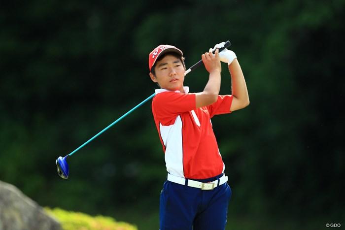 日本チームの最年少は高校1年生で16歳の大嶋宝 2019年 トヨタ ジュニアゴルフワールドカップ 初日 大嶋宝