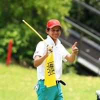 黄色のフラッグが良く似合う! 2019年 トヨタ ジュニアゴルフワールドカップ 2日目 オマール モラレス ナシフ(メキシコ)