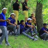 仲間を見守るチームタイランド 2019年 トヨタ ジュニアゴルフワールドカップ 2日目 チームタイランド