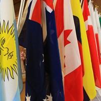 アルゼンチン国旗『五月の太陽』 2019年 トヨタ ジュニアゴルフワールドカップ 2日目 国旗