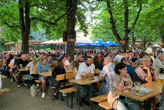 ミュンヘンの街で立ち寄ったビアガーデン