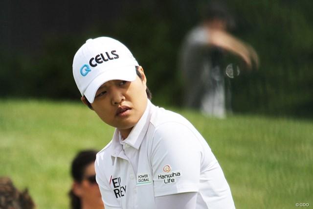 2019年 KPMG女子PGA選手権 事前 野村敏京 野村敏京。前週の途中棄権は腰痛のためだったという