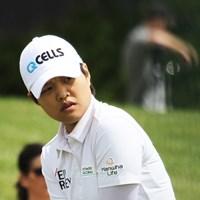 野村敏京。前週の途中棄権は腰痛のためだったという 2019年 KPMG女子PGA選手権 事前 野村敏京