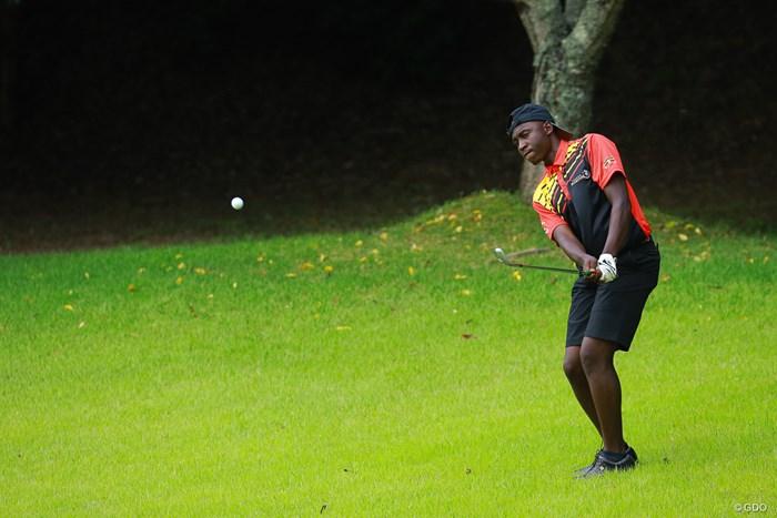 小粋なキャップのかぶり方 2019年 トヨタ ジュニアゴルフワールドカップ 3日目 ジョエル・バッサライネ(ウガンダ)