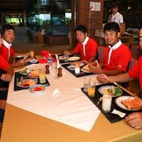 朝食 2019年 トヨタ ジュニアゴルフワールドカップ 3日目 日本男子