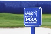2019年 KPMG女子PGA選手権 初日 看板