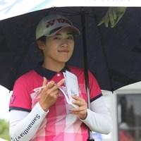 18番でバーディを奪い笑顔を見せた山口すず夏 2019年 KPMG女子PGA選手権 初日 山口すず夏