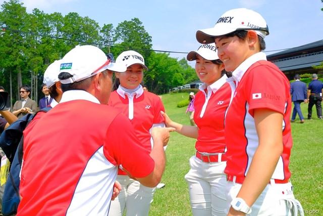 団体戦で大会連覇を達成した日本女子チーム