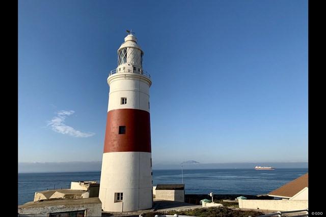 2019年 アンダルシア バルデラママスターズ 事前 ジブラルタルの灯台 ジブラルタルの灯台。海の向こうにモロッコの山が見えます