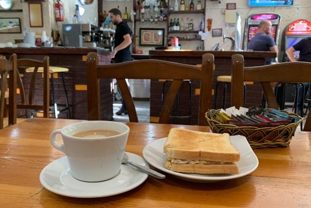 2019年 アンダルシア バルデラママスターズ 事前 ジブラルタルでの食事 ジブラルタルのカフェでの食事。雰囲気のあるお店でした