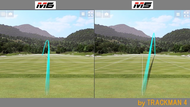 M6 フェアウェイウッド/ヘッドスピード別試打 「M5FW」と比べるとボールはつかまっていた